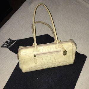 VINTAGE Brahmin white croc shoulder bag